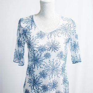 Authentic Floral mesh top