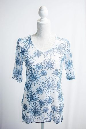 Authentic Floral mesh top