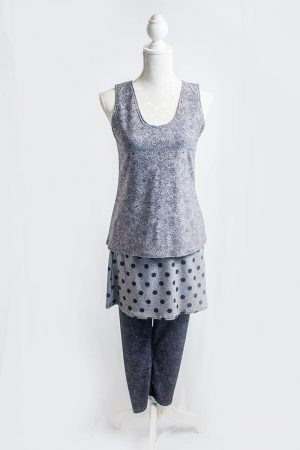 Authentic Floral polka dot three piece