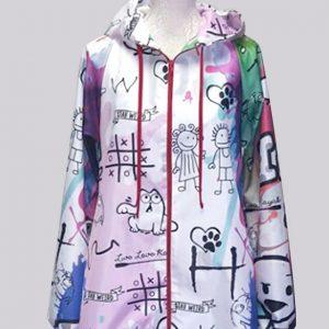 Authentic grafitti kids raincoat