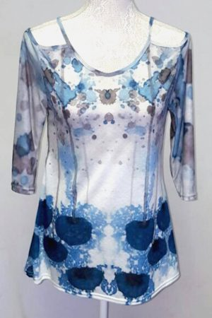 Authentic watercolour cutout top
