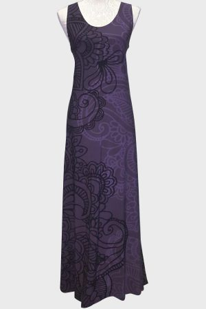 Paisley purple dress