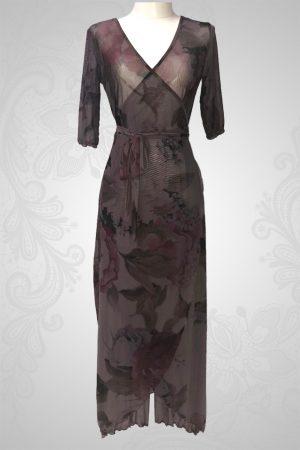 Caribbean Flower Wrap Around Dress