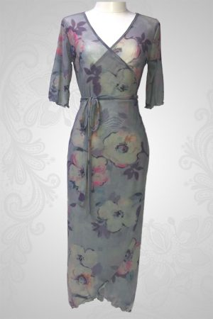 Flax Flower Wrap Around Dress