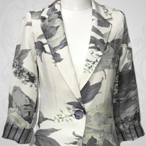 Grey Flower Jacket