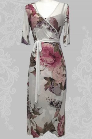 Wood Anemone Wrap Around Dress