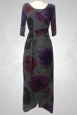 Wood Anemone Wrap Around Dress