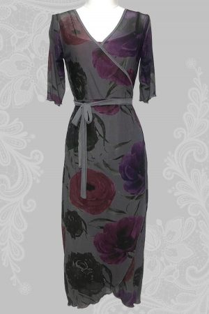 Anemone and Poppy Wrap Around Dress