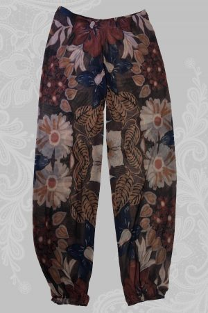 African Flower Mesh Pants